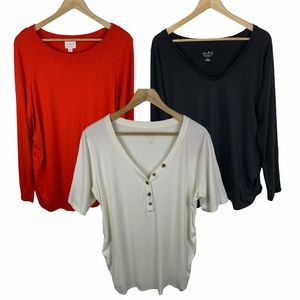 3 Item Lot Isabel Maternity Tops and Sweater XXL